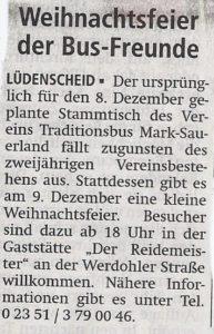 Lüdenscheider Nachrichten 07.12.2015