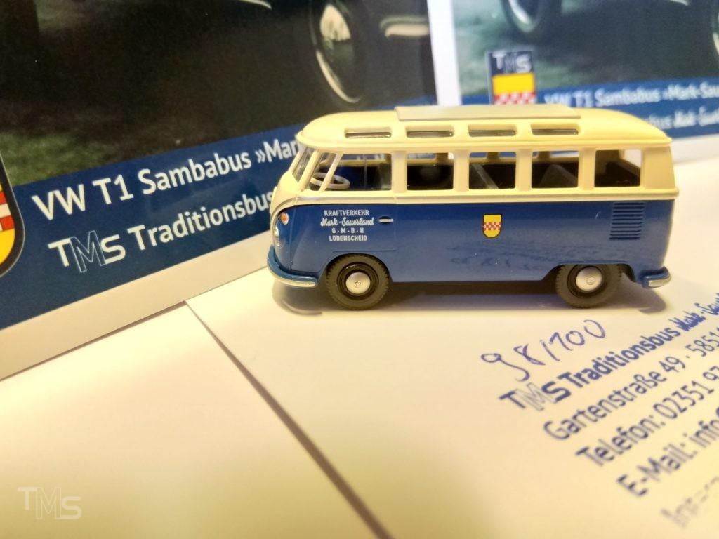 Kennen Sie schon den kleinen Wiking VW T1 Sambabus in Mark-Sauerland Design?