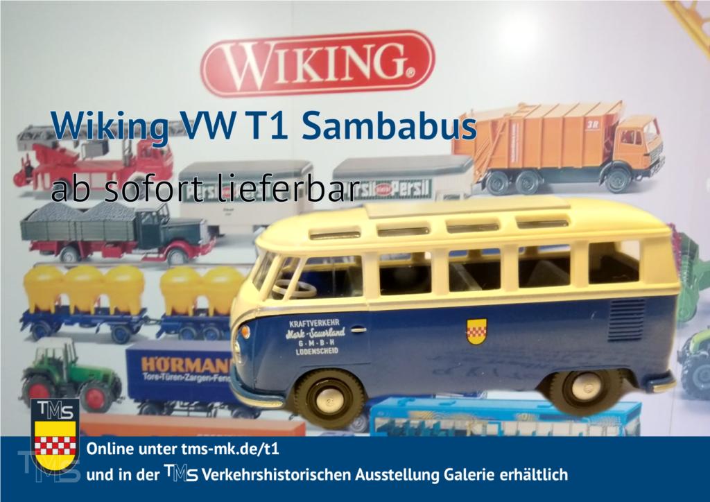 Wiking VW T1 Sambabus ab sofort lieferbar
