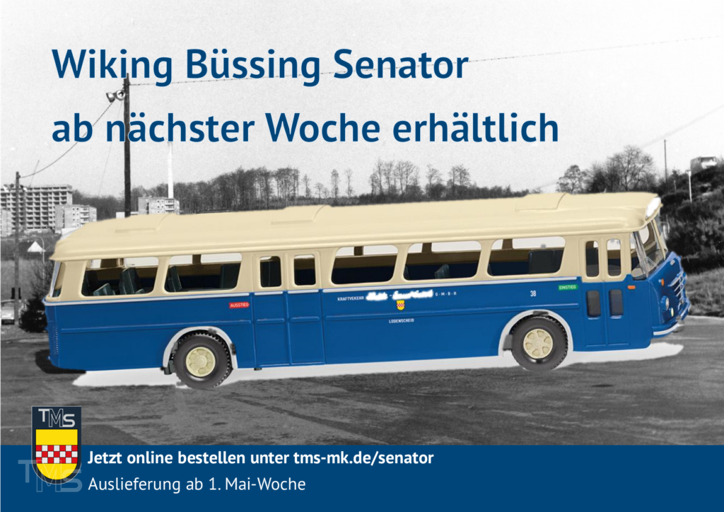 Wiking Büssing Senator ab nächster Woche erhältlich - mit Vorbildfoto