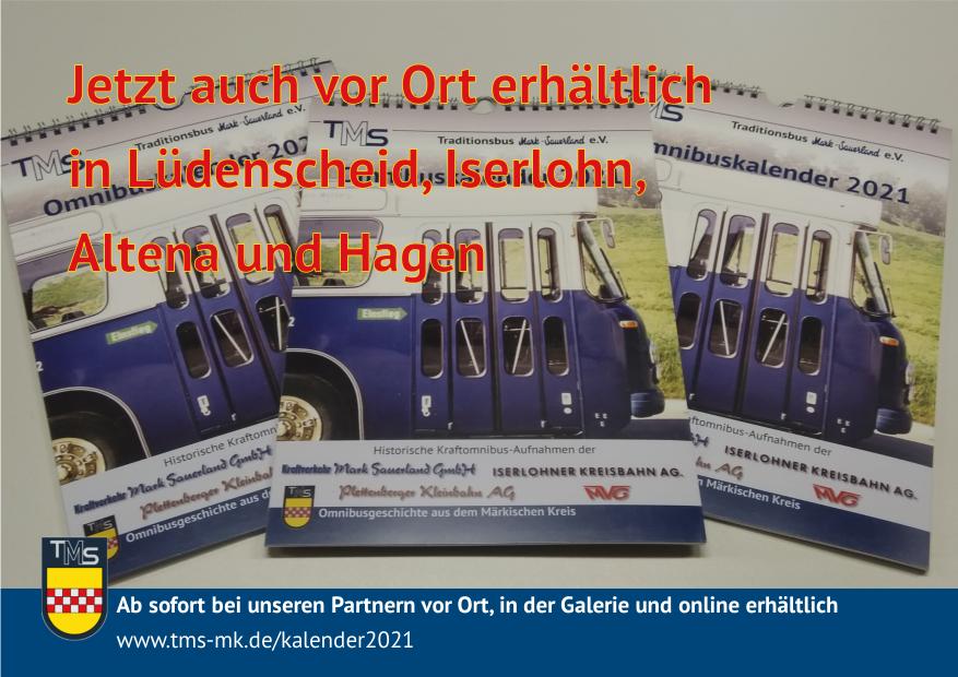 Omnibuskalender 2021 vor Ort erhältlich